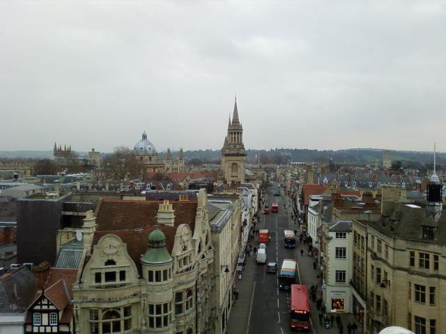 カーフォックス塔からの眺め in Oxford