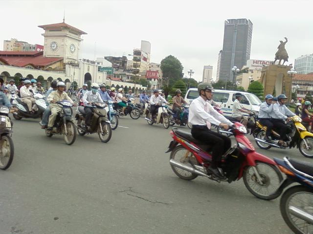 バイクの大群